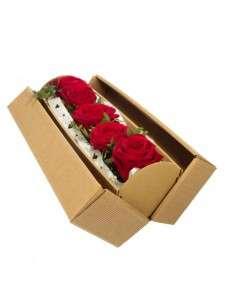 Rosengesteck_Rot Red Naomi Rosen_in Geschenkkarton_Blumengeschenk