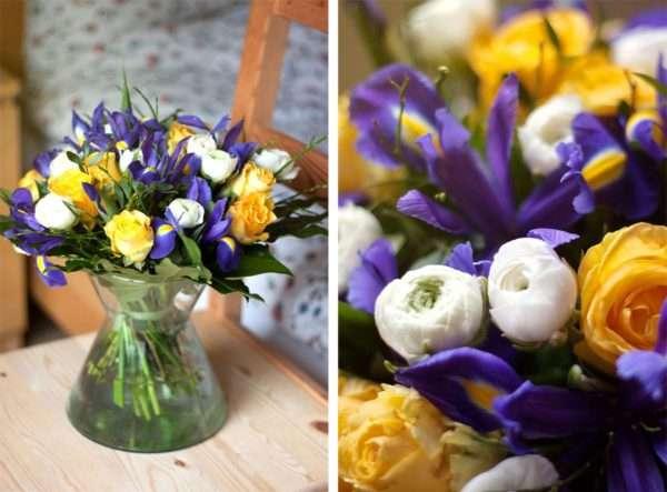 Frühlingsstrauß frühlingsstrauß einfach selbst gemacht mit iris und